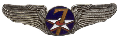 View ARMY PIN 7TH AIR FORCE AIR CORPS WINGS