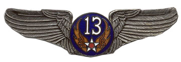 View ARMY PIN 13TH AIR FORCE AIR CORPS WINGS