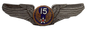 View ARMY PIN 15TH AIR FORCE AIR CORPS WINGS