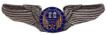 View ARMY PIN 20TH AIR FORCE AIR CORPS WINGS