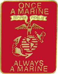 View ONCE A MARINE ALWAYS A MARINE PIN USMC MARINE CORPS