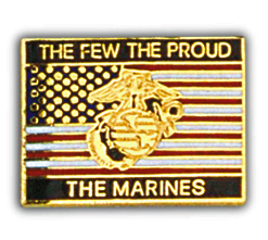 View THE FEW THE PROUD THE MARINES PIN
