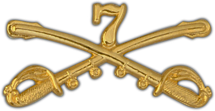 View ARMY PIN 7TH CAVALRY CROSSED SABERS