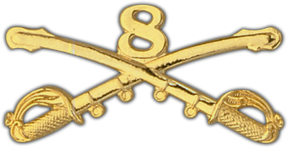 View ARMY PIN 8TH CAVALRY  CROSSED SABERS