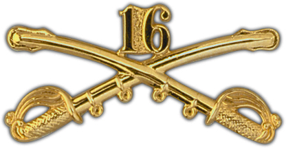 View ARMY PIN 16TH CAVALRY CROSSED SABERS