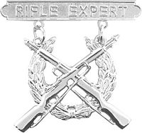 View RIFLE EXPERT BADGE MARINE CORPS REGULATION SIZE