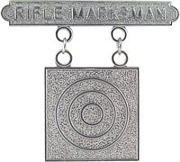 View RIFLE MARKSMAN BADGE MARINE CORPS REGULATION SIZE