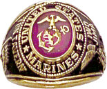 View USMC UNITED STATES MARINE CORPS RING