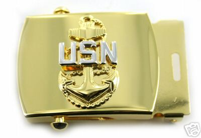 Armed Forces Insignia - USN Navy Belt Buckle E7 Chief Petty