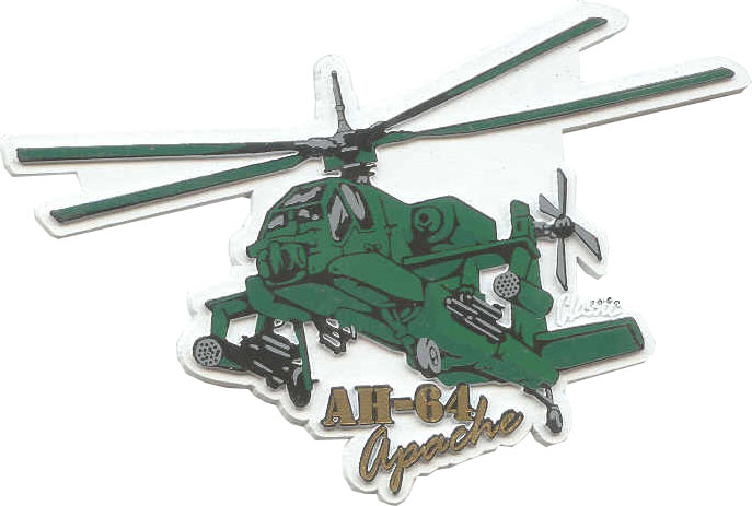 View AH-64 APACHE HELICOPTER MAGNET