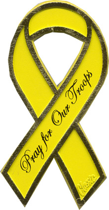 View PRAY FOR OUR TROOPS RIBBON MAGNET