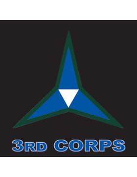 Army3rd corp Decal U.S Sticker