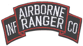 View AIRBORNE RANGER INFANTRY COMPANY TAB PATCH