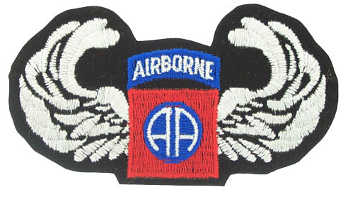 View 82ND AIRBORNE WINGS PATCH