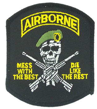 View AIRBORNE MESS WITH THE BEST PATCH
