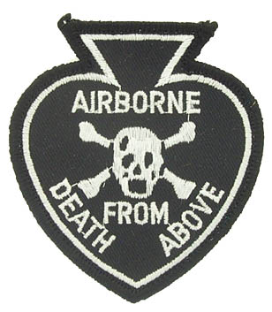 View AIRBORNE ACE OF SPADES DEATH FROM ABOVE PATCH