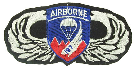 View 187TH AIRBORNE WINGS FULL COLOR PATCH