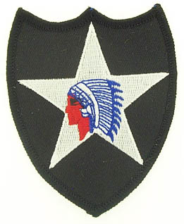 View 2ND INFANTRY DIVISION INDIAN HEAD PATCH