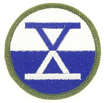 View 10TH CORPS PATCH