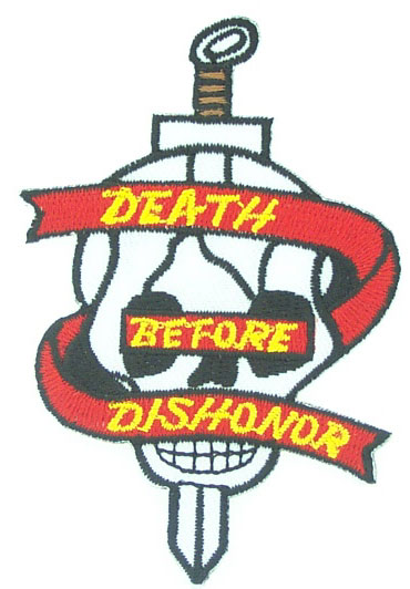 View DEATH BEFORE DISHONOR SKULL PATCH