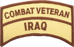 View IRAQ COMBAT VETERAN TAB PATCH