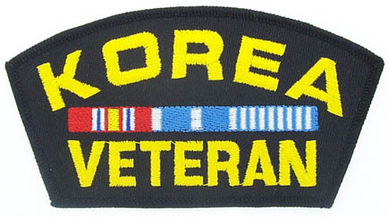 View KOREA KOREAN WAR VETERAN PATCH WITH SERVICE RIBBON