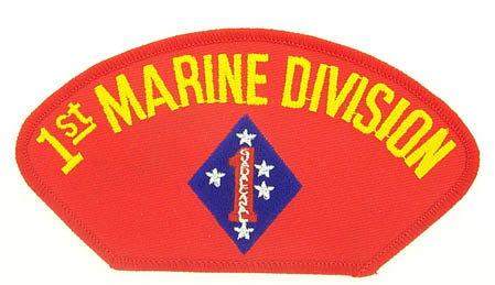 View 1ST MARINE DIVISION RED PATCH
