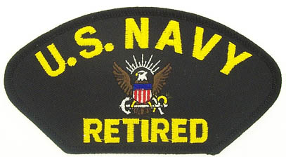 View USN US NAVY RETIRED PATCH