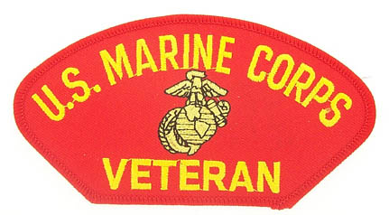 View USMC US MARINE CORPS VETERAN RED PATCH