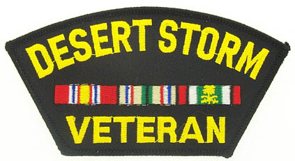 View DESERT STORM VETERAN PATCH WITH SERVICE RIBBON