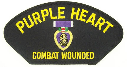 View PURPLE HEART COMBAT WOUNDED PATCH