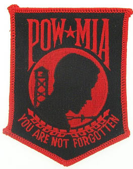 View POW MIA YOU ARE NOT FORGOTTEN RED PATCH