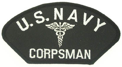 View USN US  NAVY CORPSMAN WITH CADUCES PATCH