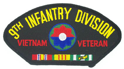 View 9TH INFANTRY DIVISION VIETNAM VETERAN PATCH WITH SERVICE RIBBON