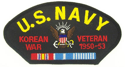 View USN US NAVY KOREAN WAR VETERAN PATCH 1950-1953 WITH SERVICE RIBBON