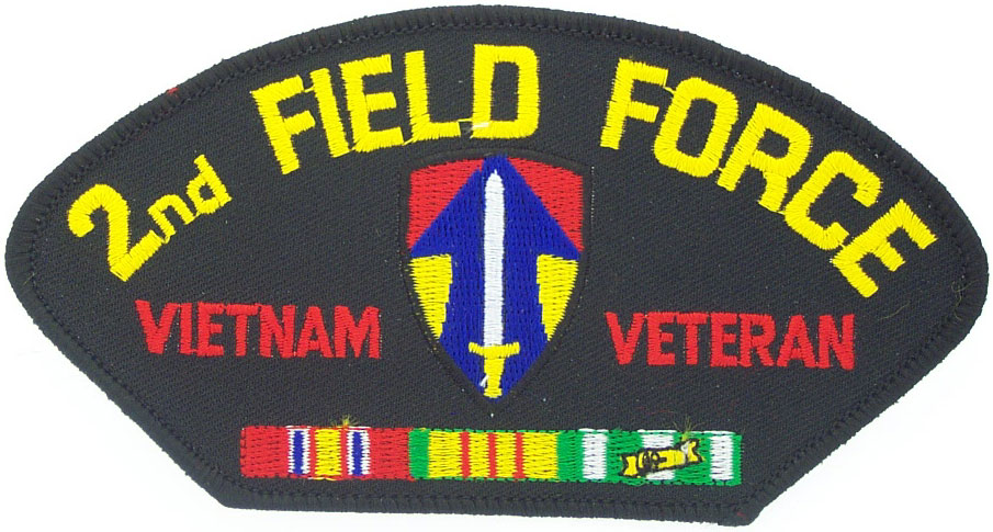 View 2ND FIELD FORCE VIETNAM VETERAN PATCH WTH SERVICE RIBBON