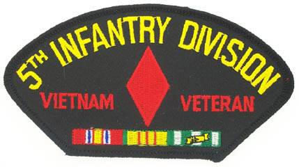 View 5TH INFANTRY DIVISION VIETNAM VETERAN PATCH WITH SERVICE RIBBON