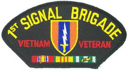 View 1ST SIGNAL BRIGADE VIETNAM VETERAN PATCH WITH SERVICE RIBBON