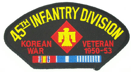 View 45TH INFANTRY DIVISION KOREAN WAR VETERAN PATCH WITH SERVICE RIBBON