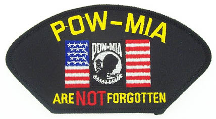 View POW MIA FLAG  PATCH ARE NOT FORGOTTEN