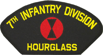 View 7TH INFANTRY DIVISION HOURGLASS PATCH