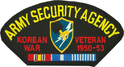View US  ARMY SECURITY AGENCY KOREA VETERAN PATCH WITH RIBBON