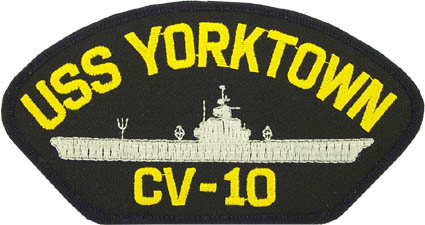 View USS YORKTOWN  CV 10 PATCH