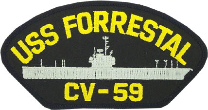 View USS FORRESTAL CV-59 PATCH