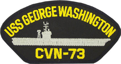 View USS GEORGE WASHINGTON CVN 73 PATCH