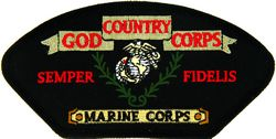View USMC US MARINE CORPS GOD COUNTRY CORPS SEMPER FIDELIS PATCH