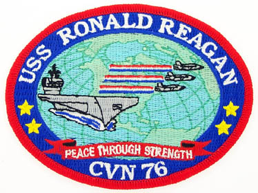 View USS RONALD REAGAN PEACE THROUGH STRENGTH PATCH