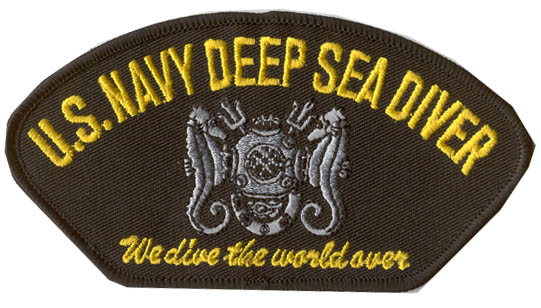 View USN US NAVY DEEP SEA DIVER PATCH