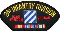 View 3RD ID INFANTRY DIVISION IRAQI FREEDOM VETERAN PATCH WITH SERVICE RIBBON