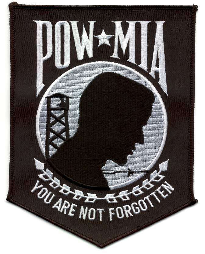 View POW MIA BLACK  BACK PATCH  12